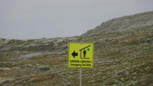 Interdicție clară lângă un refugiu din Norvegia