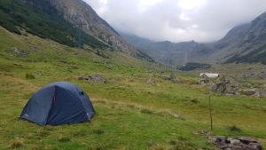 Camping in Balea valley