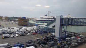 Cars going into the Denmark - Norway ferry