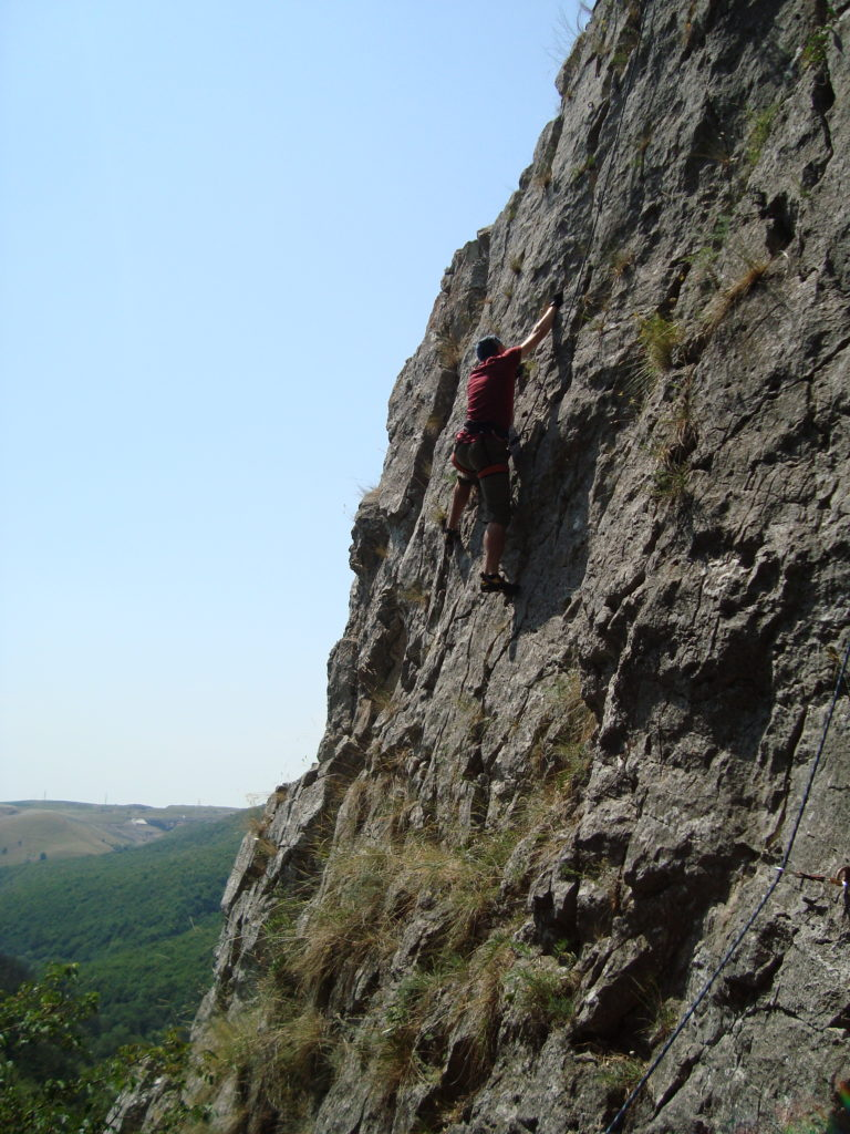 Rock climbing in Tureni Gorge, 2012