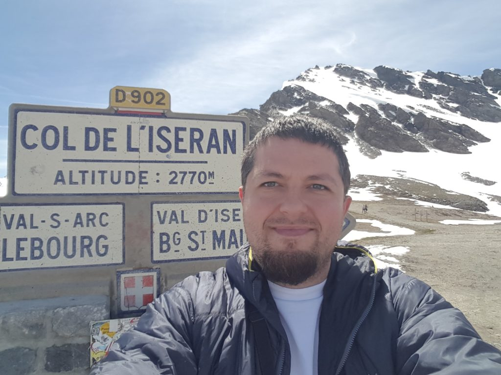 On my solo trip in France, Col de L'Iseran, the highest paved pass in the Alps, 2016