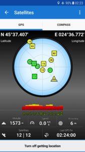 GPS koordináták, Bilea völgye