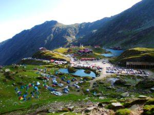Campare la Bâlea lac, partea vestică