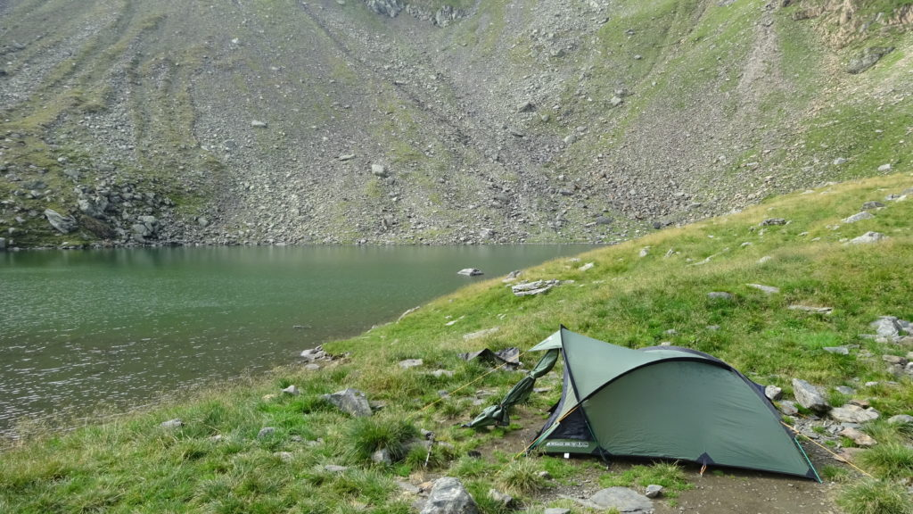 Vango Mirage 200 tent after two days of serious storm, Făgăraș mountains, 2017