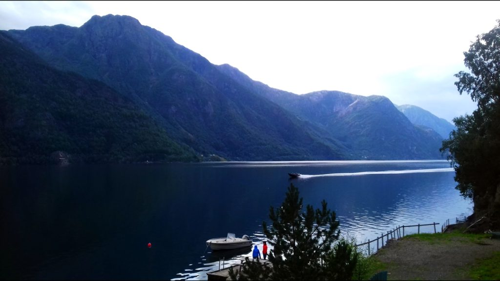 View from a Norwegian camping, near Odda