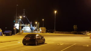 Waiting for a night ferry somewhere in Norway