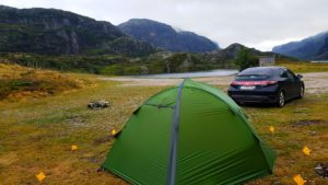 Wild camping in southern Norway